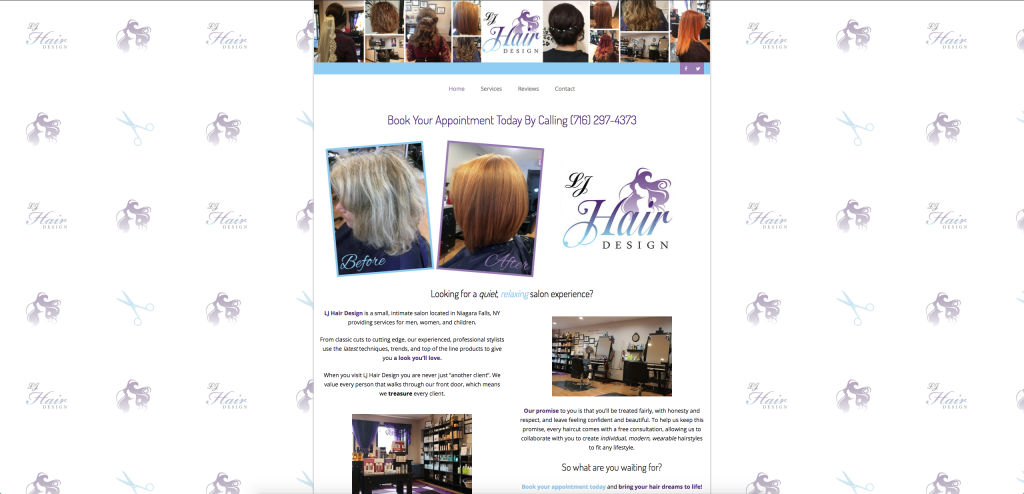 website, new year, salon, lj hair design